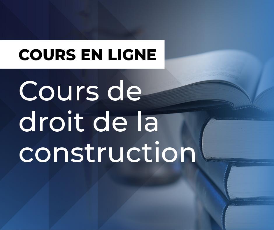 Cours de droit de la construction