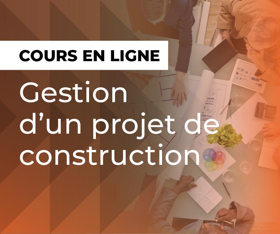 Cours de gestion d'un projet de construction