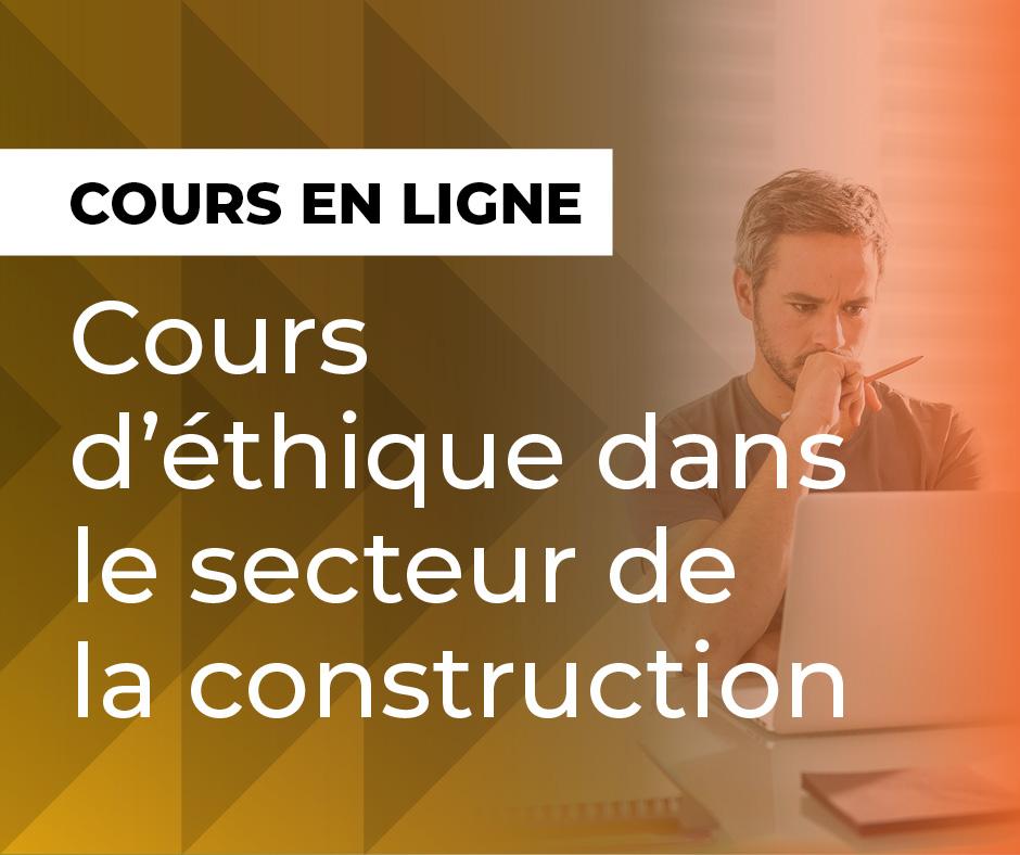 Cours dʹéthique dans le secteur de la construction