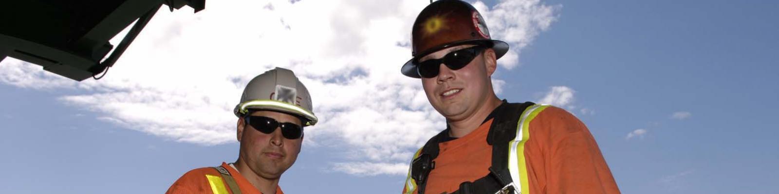 Aboriginal journeyman ironworkers construction workers